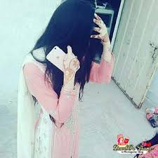 Girl Hiding Face DP for Profile Pic