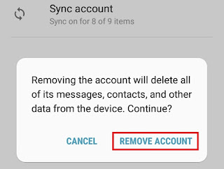 delete google account android