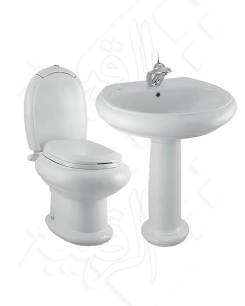 طقم حمام كليوباترا أبيض موديل كليوباترا