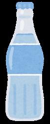 瓶に入った飲み物のイラスト(水)
