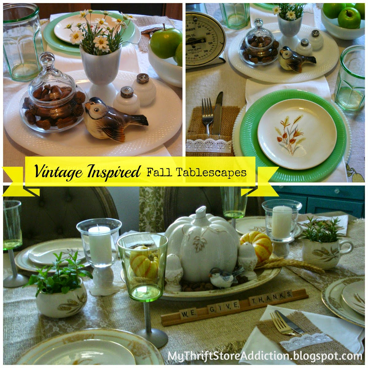 Vintage Autumn tablescapes