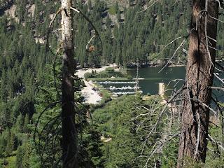 Fast geschafft: Blick auf das Mono Village Resort, das Ziel der Sierra High Route