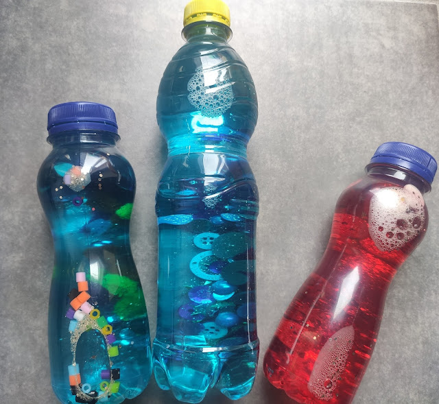 bouteilles sensorielles montessori DIY premier âge bouteilles de retour au calme