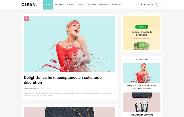 Clean Responsive Personal Blog Tutorial Minimalist Simple Blogger Template Theme