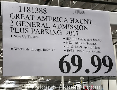 Deal for admission for 2 to Great America's Halloween Haunt at Costco