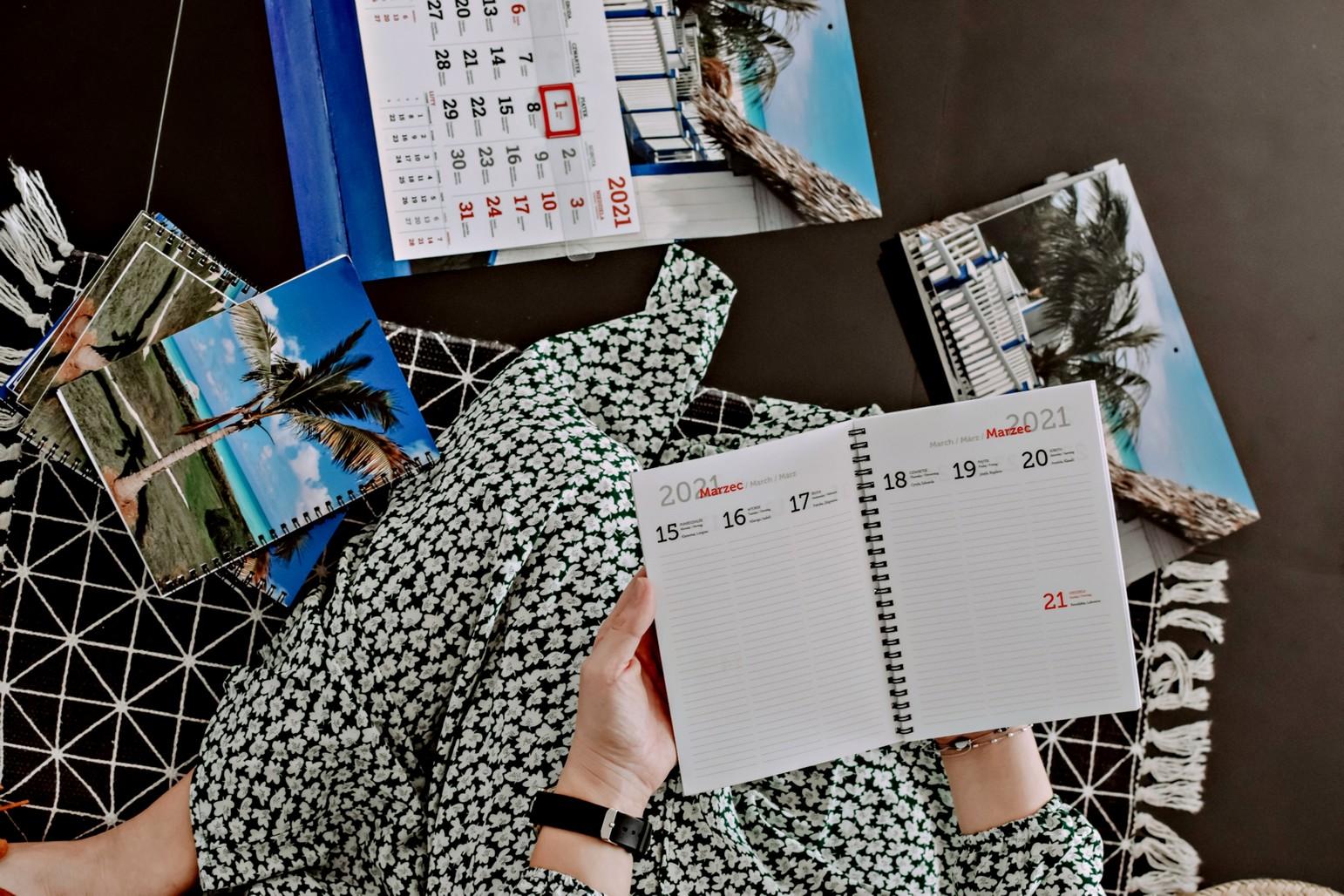 Personalizowany kalendarz zeszytowy