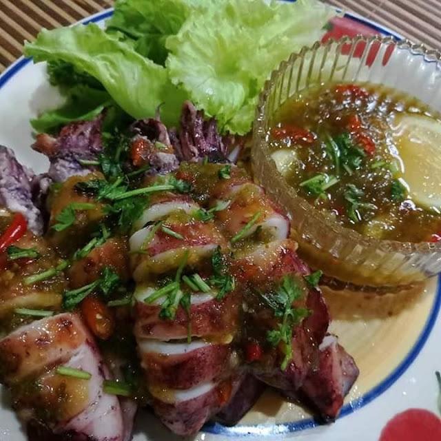 Resepi Sotong Sumbat Bakar Thai