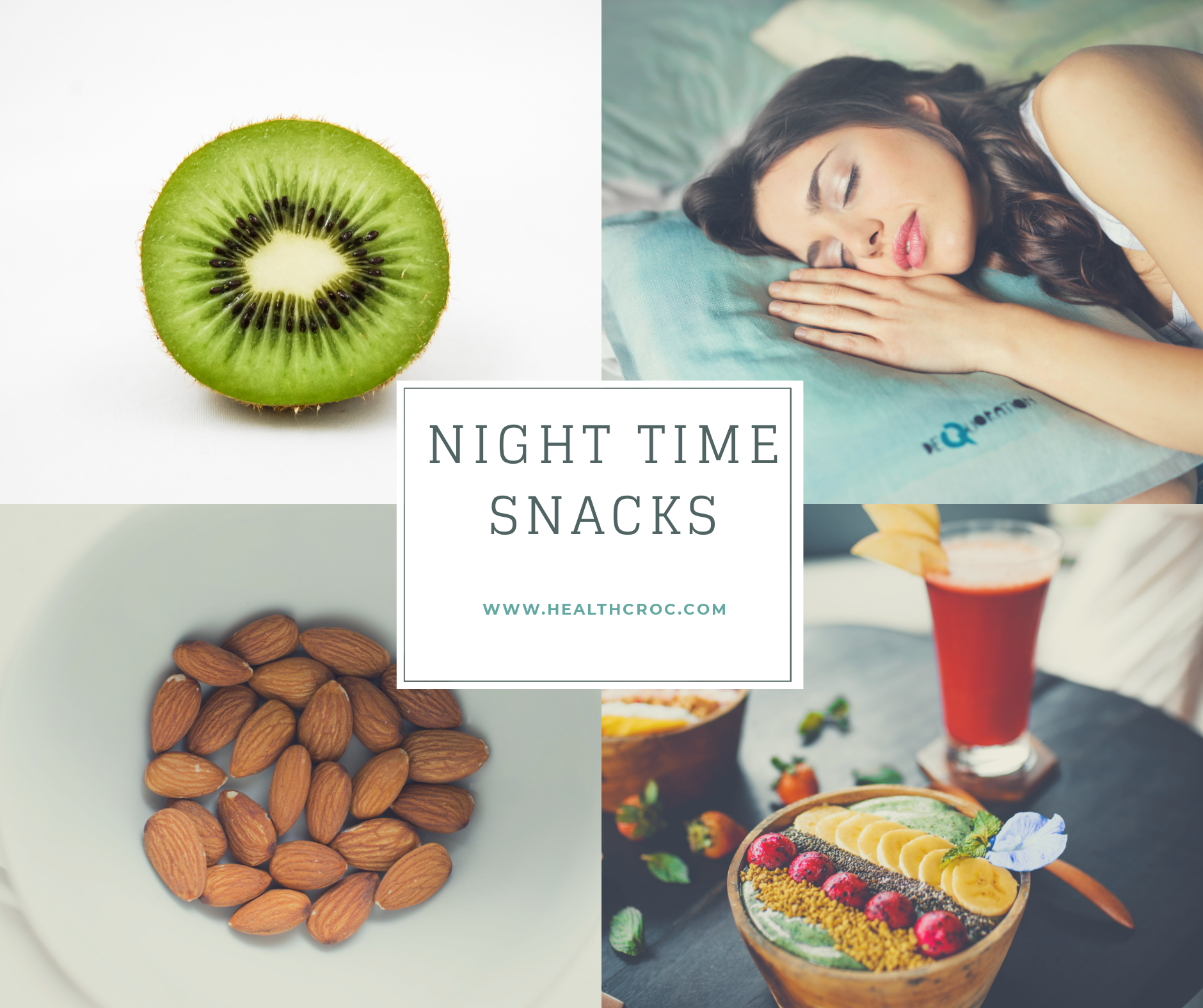 night time snacks for a healthy sleep