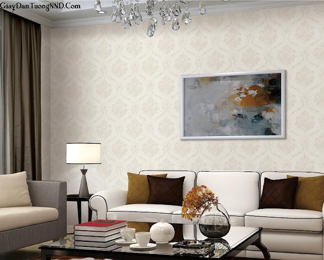 Mẫu giấy dán tường phòng khách cho không gian sang trọng
