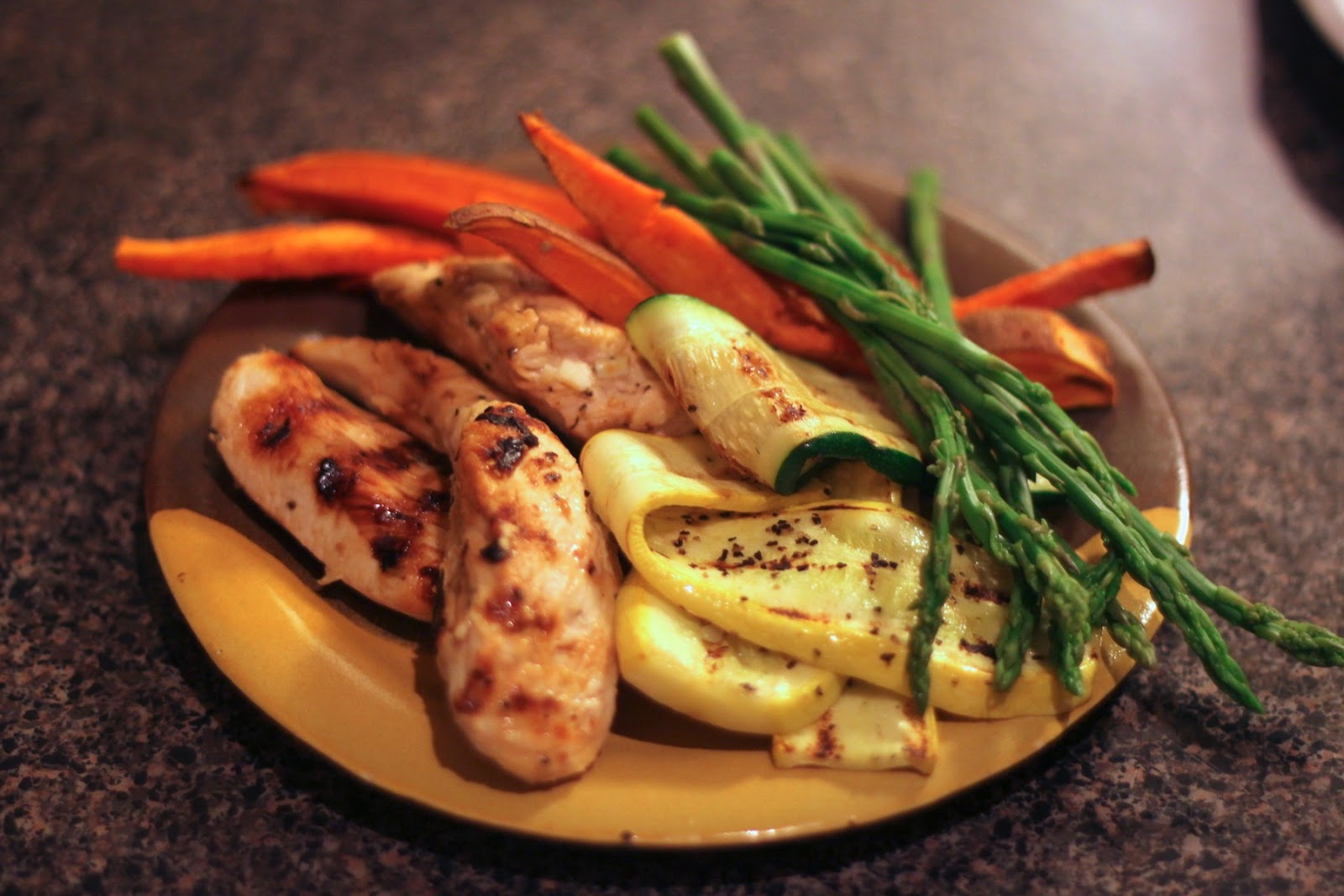 Jenessa S Dinners Grilled Chicken And Veggies