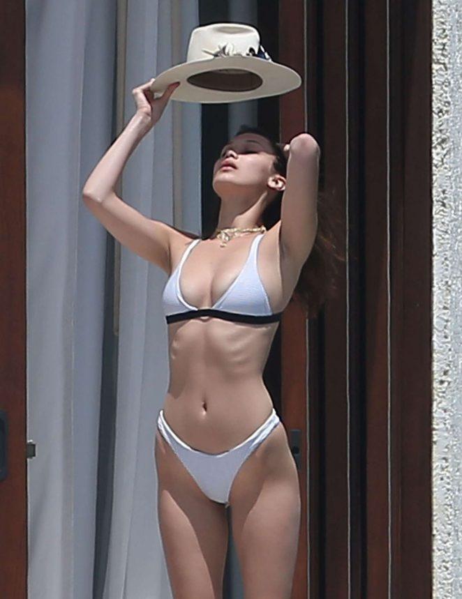 Bella Hadid Enjoys in Bikini