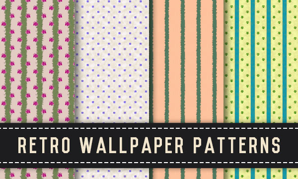 Free Retro Wallpaper Seamless Tiling Patterns
