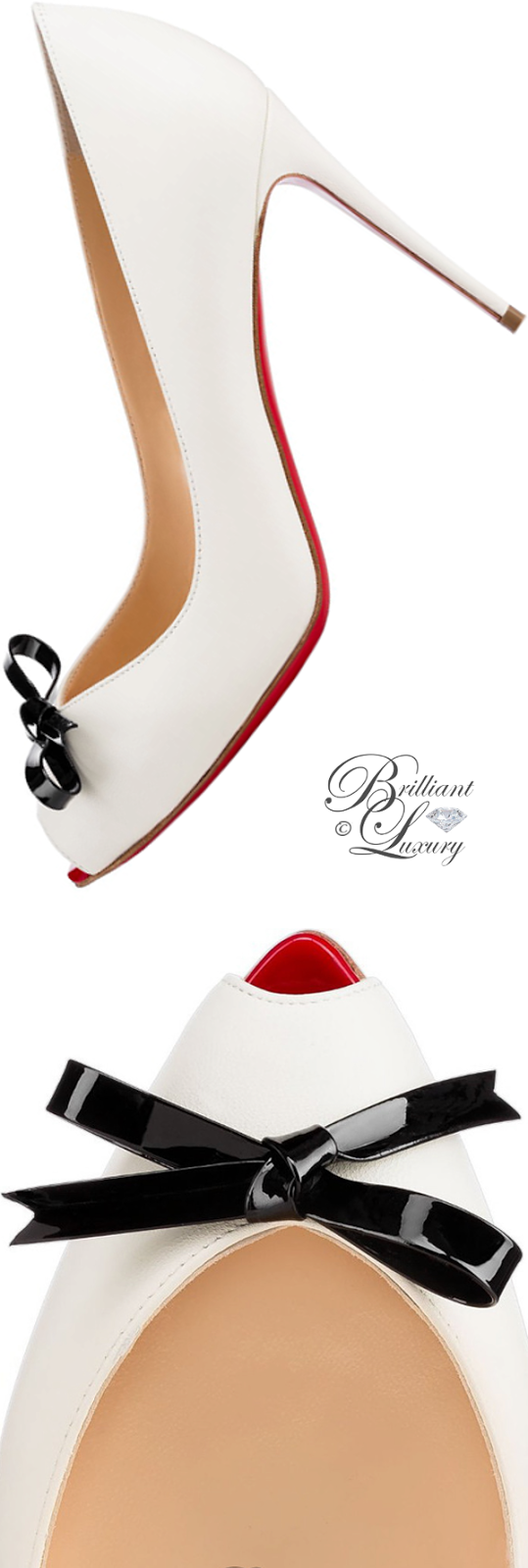 Brilliant Luxury ♦ Christian Louboutin Tibunodo Kid peeptoe pump