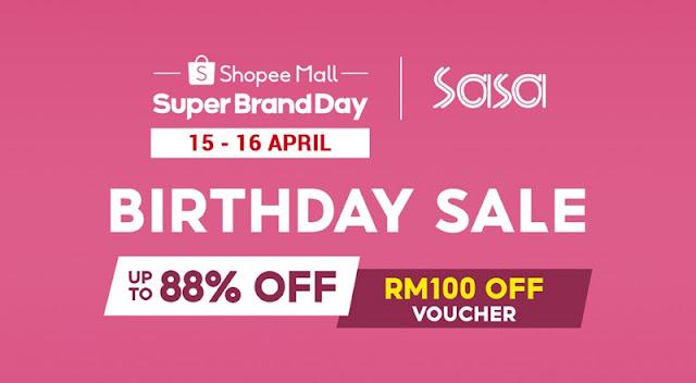 Sa Sa Lancar First Super Brand Day di Shopee