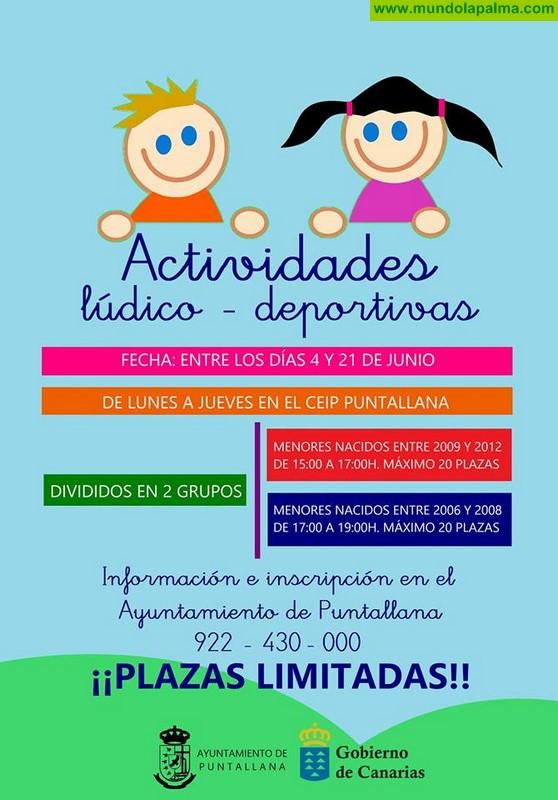 Actividades lúdico - deportivas del 4 al 21 de junio en Puntallana