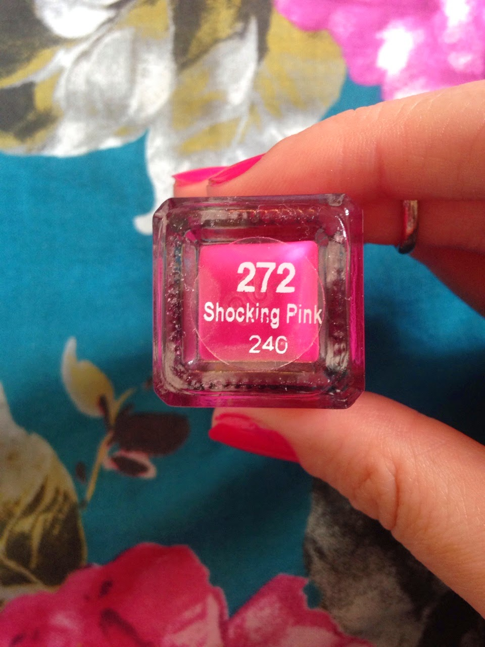 barry m nail polish in the shade shocking pink