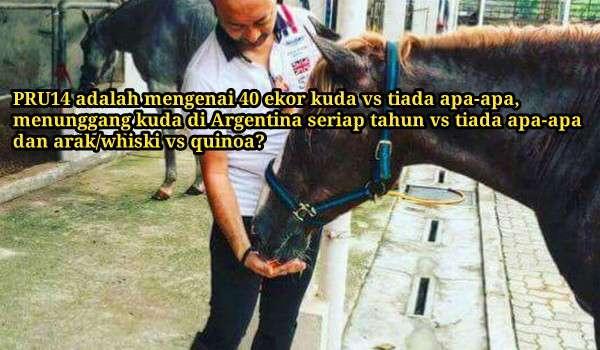 'Makanan kuda Mahathir lagi mahal dari quinoa saya'
