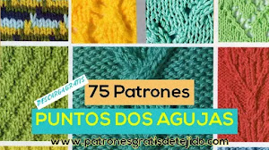 75 Patrones Puntos en Dos Agujas | Descarga gratis