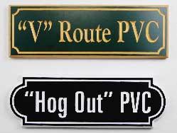 chapa de PVC