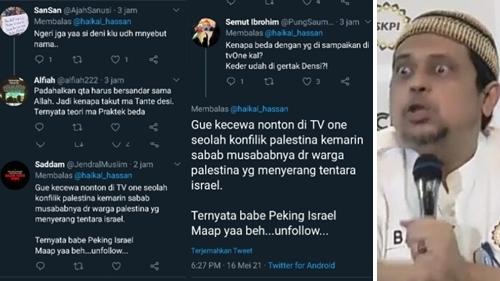 Haikal Hassan Dianggap Sudutkan Warga Palestina, Netizen: Jadi Munafikun karena Ditarget Densi