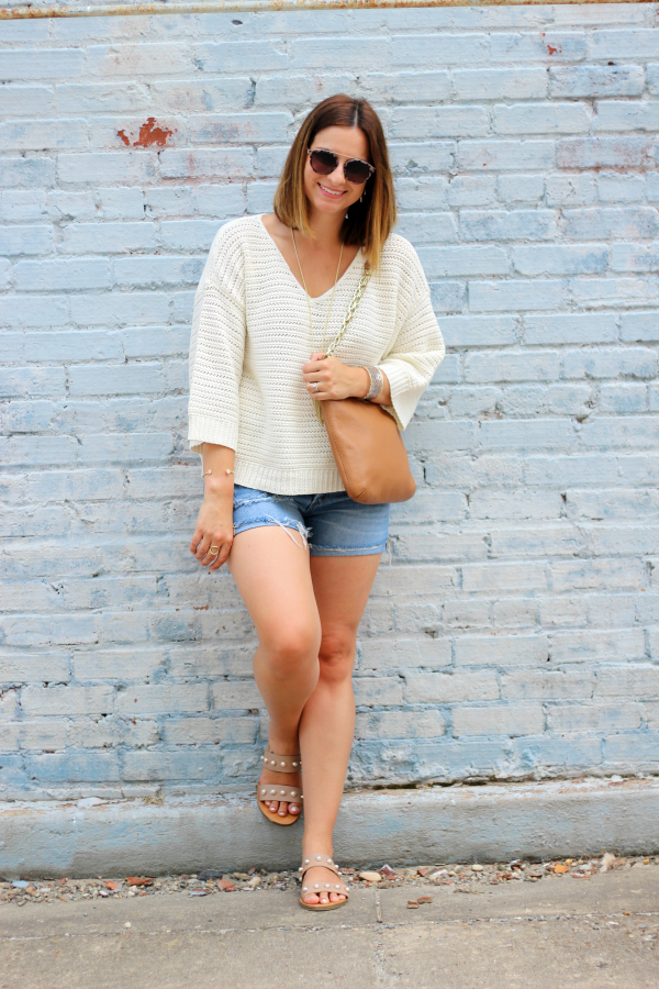 summer sweater, transitional style, style on a budget, how to style a sweater for summer, mom style