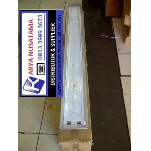 Jual Lampu TL + Komponen TL Waterproof 2 x 36W Dustproof di Makasar