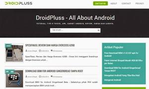 DroidPluss - Blogger Template Responsive