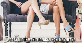 Cara duduk wanita dengan Kaki Menyilang