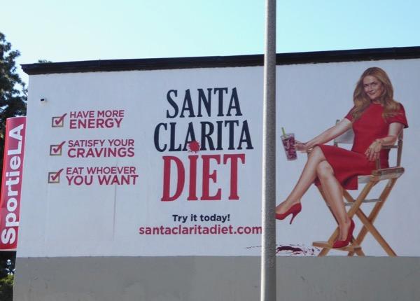 Santa Clarita Diet teaser wall mural ad