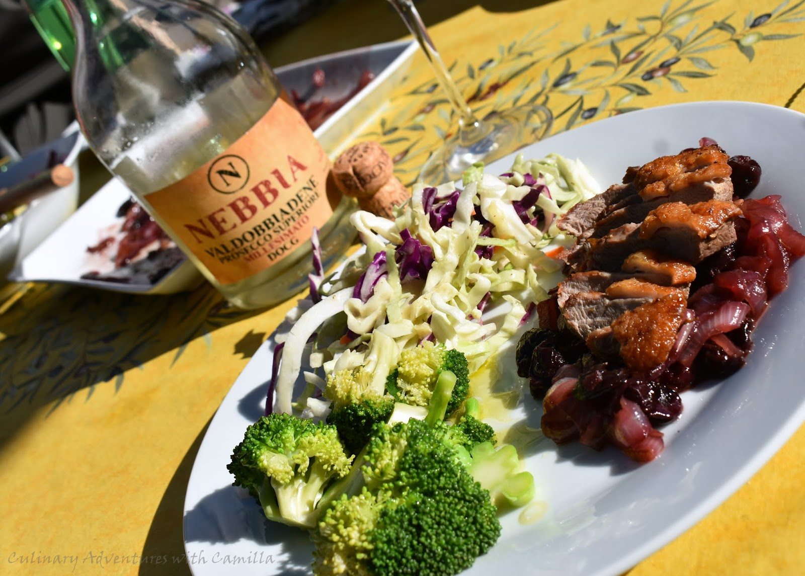 best website 7e63e 56540 I served the seared agrodolce duck breasts with blanched broccoli and a  cabbage salad. Stay tuned for more pourings and pairings as the entire   ItalianFWT ...