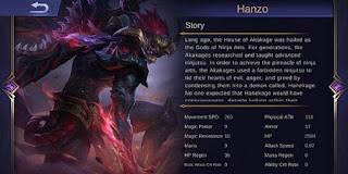 GG Abis! Hanzo si Penghancur Tank Hero Baru Mobile Legends