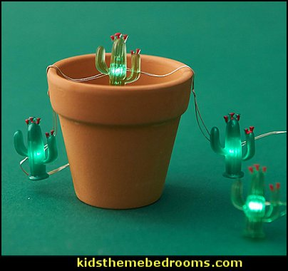 Cactus String Lights Tropical Desert Garden Plant