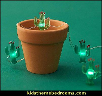 Cactus String Lights Tropical Desert Garden Plant