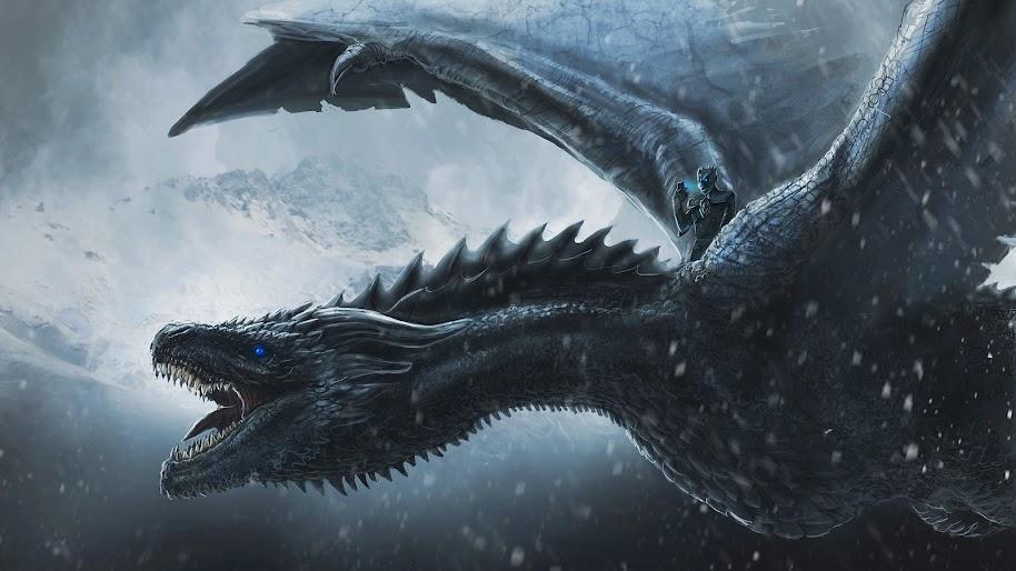Game Of Thrones Night King Dragon 4k Wallpaper 74