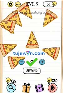 pizza ada berapa potong level 5