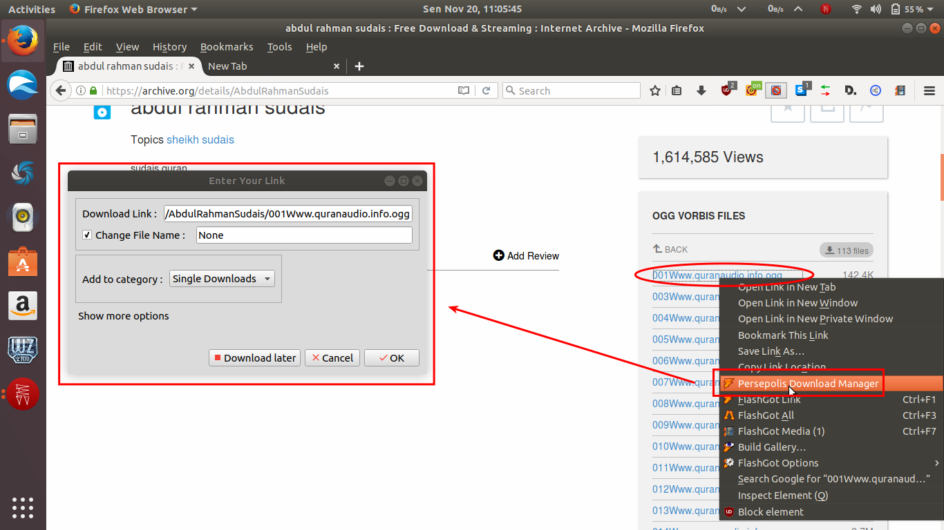 Integrate Persepolis Download Manager (PDM) to Firefox