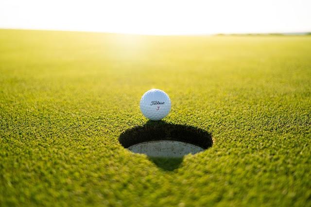 Golf ball on green next to hole:Photo by Soheb Zaidi on Unsplash