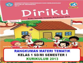 Rangkuman materi tematik kelas 1 sd/mi