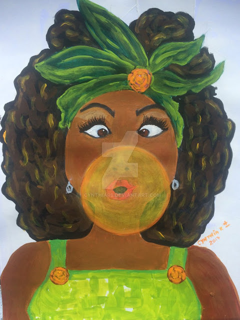 Cynthia-arte-donypasion-costa rica, chewinggum-gum-ebonygirl