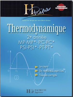 Télécharger Livre Gratuit Thermodynamique 2eme année MP-PC-PSI-PT H-Prépa pdf