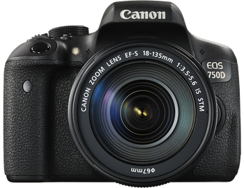 Canon-EOS-750D-black-front-with-EF-S-18-135mm-f35-56-IS-STM