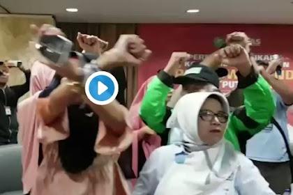RICUH! Relawan 02 Merasa Dijebak Acara Konsolidasi Tapi Berisi Ucapan Selamat Kepada Jokowi-Maruf
