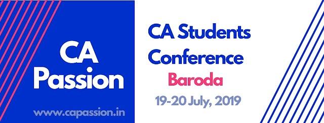 CA Students Conference at Baroda at 19-20 July, 2019