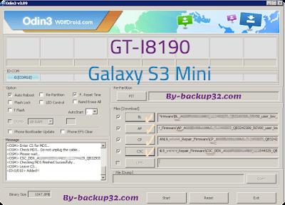 سوفت وير هاتف Galaxy S3 Mini موديل GT-I8190 روم الاصلاح 4 ملفات تحميل مباشر