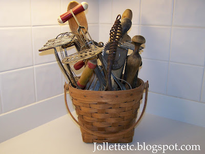 Kitchen tools belonging to Mary Frances Jollett Davis  http://jollettetc.blogspot.com