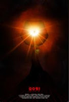 image of movie poster with orange light