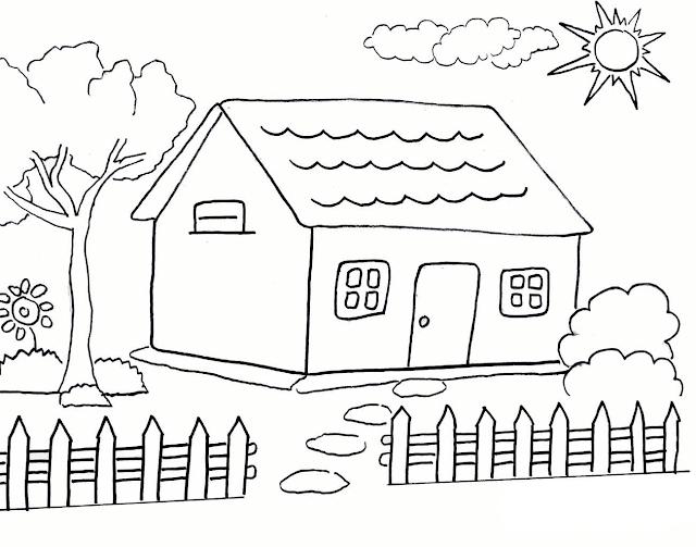 Mewarnai Gambar Rumah - 6
