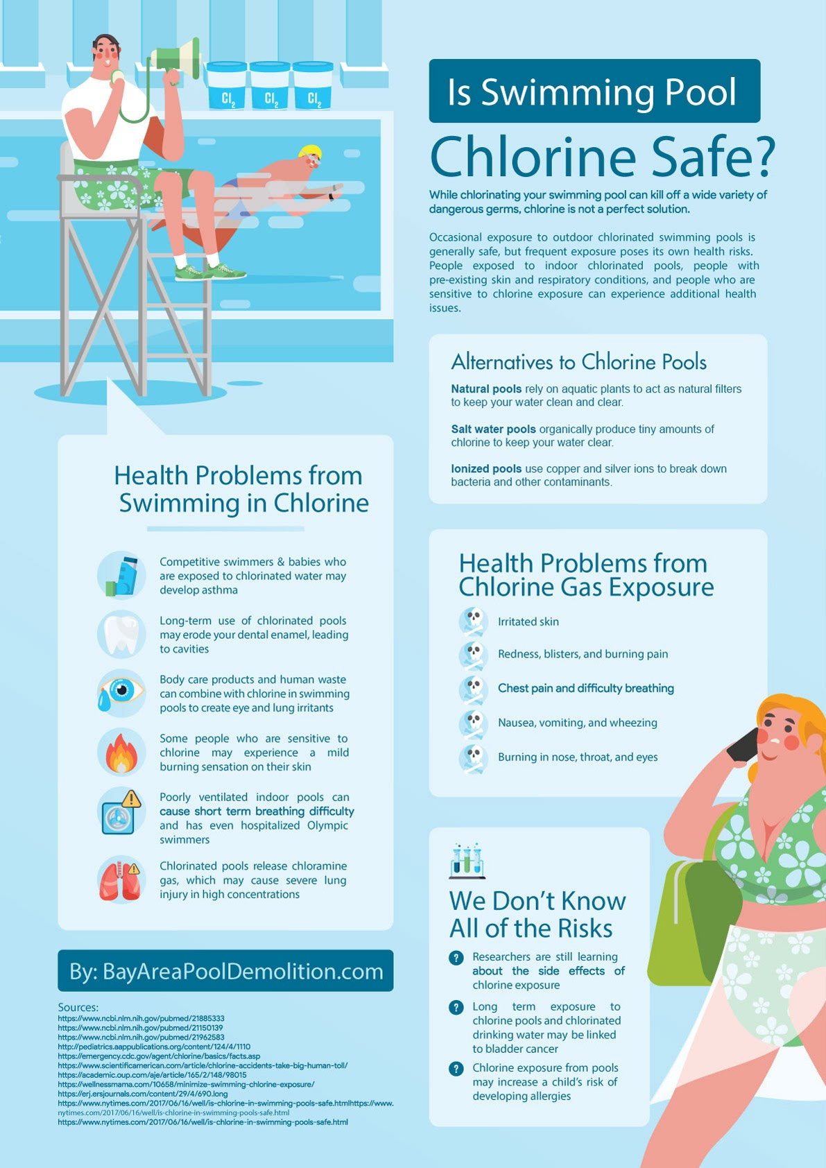 Is Swimming Pool Chlorine Safe? #Infographic