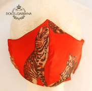 Nancy Tranter Designs dolce gabanna fabric cat print red nancystoreonline.com