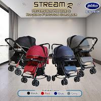 Kereta Dorong Bayi Pliko BS397 Stream R Baby Stroller